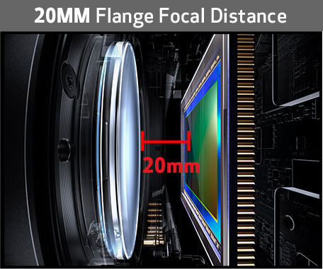 20mm Flange Focal Distance
